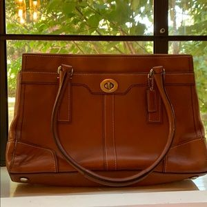 Vintage Brown Leather Coach
